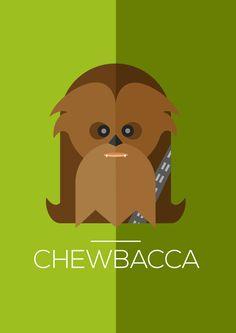 - CHÑÑÑÑÑÑ #chewacca #starwars #flatillustration #illustration