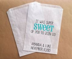 Wedding Candy Bags Favor Bags for Wedding Guests Sweet of You to Join Us Tiffany Blue Wedding Candy Buffet Bags on Etsy, 19,27 €