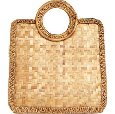 Square banana leaf basket bag with round handles, woven raffia sides and a Kente print cotton lining that varies from bag to bag. BANANA LEAF BASKET £59 / TOAST