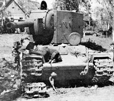 "If the Germans were unpleasantly surprised by the KV-1 and the T-34A, they were not particularly pleased to meet the KV-2 either. This was a Soviet take on the ""breakthrough tank"" concept, designed to supply infantry support and bunker-busting against fixed fortifications. It was slow (some 16 kmph on road, slower off-road) and had a very high profile but, on the other hand, packed a 152mm gun-howitzer with bunker-busting in mind. This could be turned very effectively to anti-tank use."