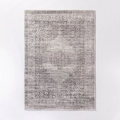 Millcreek Distressed Vintage Persian Rug Charcoal - Threshold™ Designed With Studio Mcgee : Target
