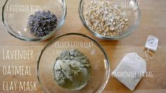 DIY Christmas Day Oatmeal, Lavender, and Clay Mask… (can substitute lavender essential oil for the buds) Oatmeal Mask, Oatmeal Scrub, Coffee Face Scrub, Face Mask For Blackheads, Face Scrub Homemade, Homemade Masks, Homemade Facials, Homemade Products, Oily Skin Care