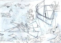 Deconstructive sketches, time for discovering new spaces on architecture! (by Javier Cardiel)