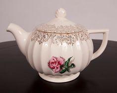 Porcelain Rose Teapot Vintage Pink Shadowed by LeVintageGalleria, $22.00