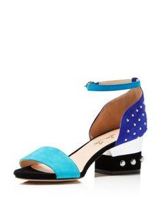 Isa Tapia Odessey Low Stud Block Heel Sandals | Bloomingdale's