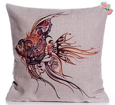 Caryko Home Decor Cotton Linen Square Pillow Case Cushion Cover (Goldfish-Red) Caryko http://www.amazon.com/dp/B00YSHA36C/ref=cm_sw_r_pi_dp_NBgCvb1Q224R7