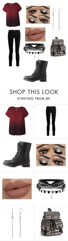 """Typical day at school"" by ampndendinger ❤ liked on Polyvore featuring Dex, J Brand, Charlotte Russe, NLY Accessories and plus size clothing"