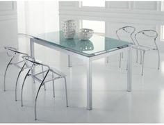 Tavolo Quadrato Allungabile Vetro Trasparente.52 Fantastiche Immagini Su Glass Tables Glass End Tables Glass