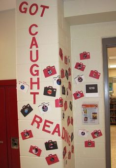 Got caught reading snapshot display or bulletin board. Students could write about what they are reading.