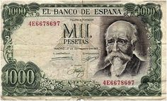Spanish Mil Pesetas bill from the 1970s.