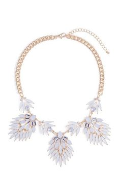Blanc Feather Necklace