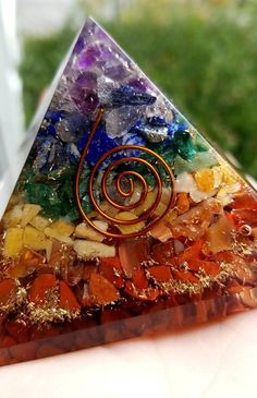 This item is unavailable Diy Resin Art, Diy Resin Crafts, Diy And Crafts, Chakra Art, Homemade Art, Crystal Healing Stones, Rocks And Minerals, Stone Painting, Resin Jewelry
