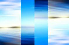 Nieuw in mijn Werk aan de Muur shop: Surrealistische blauwe abstracte zeegezicht