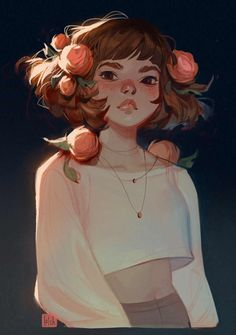 Lois van Baarle aka Loish has been drawing since the day he could hold a pencil. Born in Holland this awesome illustrator resident Pretty Art, Cute Art, Character Illustration, Illustration Art, Crown Drawing, Crown Art, Arte Indie, Loish, Arte Sketchbook
