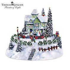 Thomas Kinkade The Snowflake Bed And Breakfast Sculpture