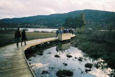 Seljord og sogene - footbridge to the watchtower - Feste Landskap and Rintala Eggertsson
