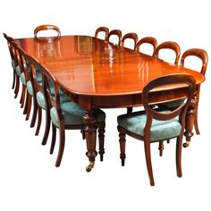 Antique Victorian D-End Mahogany Dining Table and 14 Chairs, Century Dining Room Set – Antique D-End Dining 14 Chairs Century English Victorian Damask, Mahogany Dining Room Sets, Dining Room Design, Dining Room Table, Design Bedroom, Extendable Dining Table, Antique Dining Chairs, Victorian Dining Tables, Table For 12, Trendy Tree