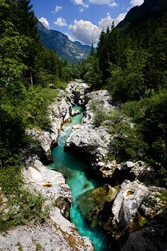 Alpine Soca river - my eden - nowhere else in the world it is a beautiful as it is in the Soca Valley in Slovenia