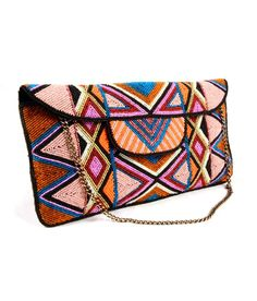 Claude Lorrain Multi Color Womens Clutch
