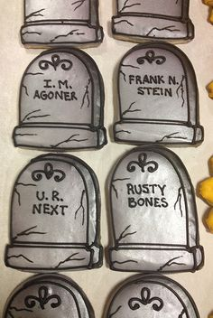 Funny Tombstone Cookies (Bennys Bakery Cakes)
