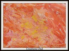 peinture dans les tons orange et jaune sur le theme de l automne