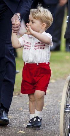 Prince George Photos - Royals Celebrate the Christening of Princess Charlotte - Zimbio