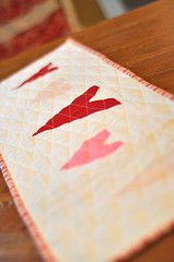 Free Pieced Heart Table Runner | Flickr - Photo Sharing!
