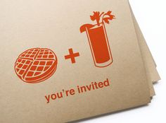 Printable waffle & bloody mary brunch by GirlinGearStudio on Etsy