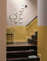 Cage d'escalier bicolore Jaune