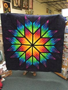 Prismatic Star, Quiltworx.com, Made by CI Kathi Carter.