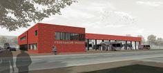 brüchner-hüttemann pasch bhp Architekten + Generalplaner GmbH 3.Preis Wettbewerb Feuerwache Verden #bhparchitekten #architecture #verden #wettbewerb #competion