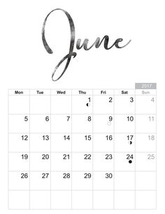 2017 June - Free printable Sheet