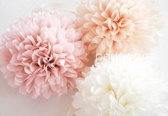 Blush pink and neutral poms are fabulous for adding a touch of sweetness to any…