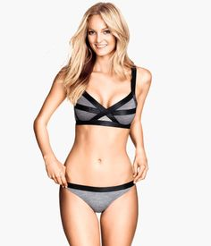 heather grey bikini | H&M although I got the black one