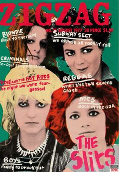 The Slits on the cover of Zig Zag 1977.