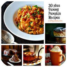 30 plus Pumpkin Recipes