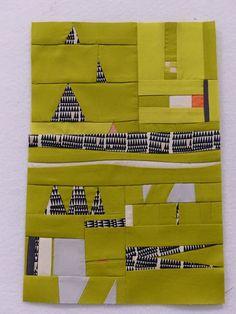 Student sample quilt, Improv workshop with Gwen Marston. Photo by M-R Charbonneau | Quilt Matters.