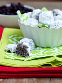 Wild Blueberry Snowballs - the perfect snowday snack :)