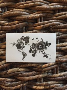 World Map Sticker- Rectangle Black and White Mandala Laptop Sticker- small gift for travel lover by SummerStormArt on Etsy https://www.etsy.com/ca/listing/574302355/world-map-sticker-rectangle-black-and