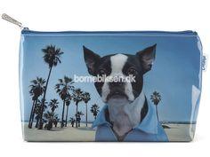 Køb stor Catseye toilettaske, blå hund her - til en skarp pris