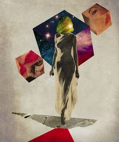 Peter Horvath: Moon Series on tumblr - art collage