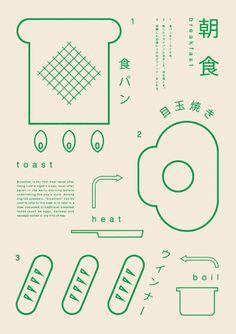 Gurafiku Review: Most Popular on Gurafiku in September, 2013. Japanese Graphics: Making Breakfast. Ryo Kuwabara. 2013