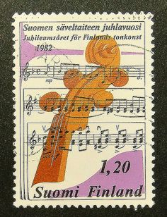 13690  Framed Postage Stamp Art  Violin  by PassionGiftStampArt