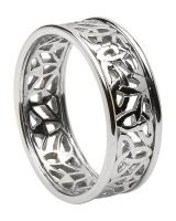 Women's Celtic Wedding Rings - Silver & Gold - Made in Ireland