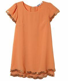 Sequin Scalloped Dress