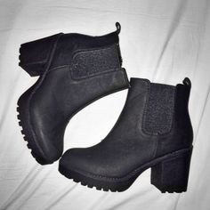 Booties ❤️ #black #boots #ankle boots #fashion #trend #girls #women #winter #edgy #classy
