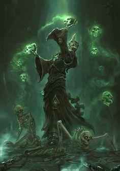 Battlebuddies – Necromancer – fantasy character concept by Sacha Angel Diener Dark Fantasy Art, Fantasy Artwork, High Fantasy, Fantasy Rpg, Medieval Fantasy, Dark Art, Monster Art, Fantasy Inspiration, Horror Art