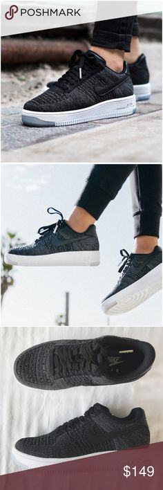 Nike Air Force 1 Flyknit Low Sneakers •The Nike Air Force 1 Ultra Flyknit Low Women's Shoe features the engineered knit upper for the first time, making the legend lighter than ever. An encapsulated Air-Sole heel unit provides premium cushioning, while strategically crafted panels help create the dimension and lines of the true AF1 for a heritage look.  •Women's size 7, true to size.   •New in box (no lid)   •NO TRADES/HOLDS/PAYPAL/MERC/VINTED/NONSENSE. Nike Shoes Sneakers