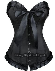 Black corset - add a little ribbion & it's both sweet and sassy