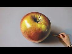 Dibujo en 3D de una manzana - Cómo hacer un dibujo en 3D - YouTube